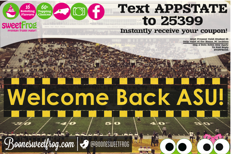AppState Student?  Sign up for coupons here!